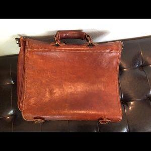 Handmade 100% Italian leather computer/msngr bag